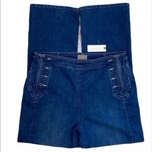 NWT MOTHER The Sailor Tripper Flare Leg Ankle Jean